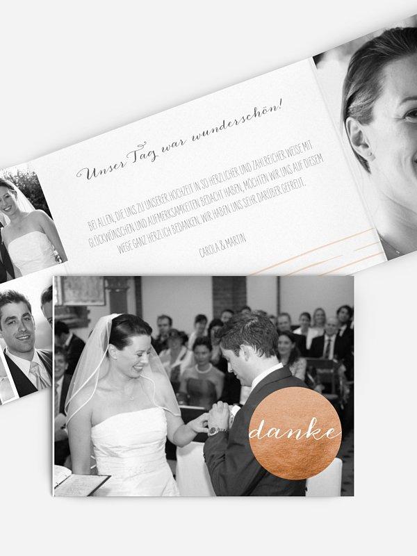 Dankeskarte Hochzeit Copper Art