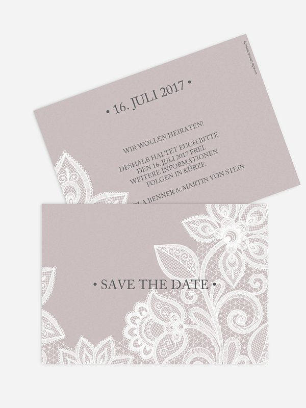 Save-the-Date Karte Spitze