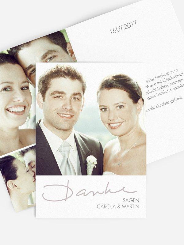 Dankeskarte Hochzeit Letter Poppy