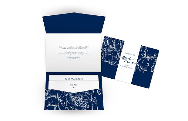 Hochzeitseinladung Letter Poppy