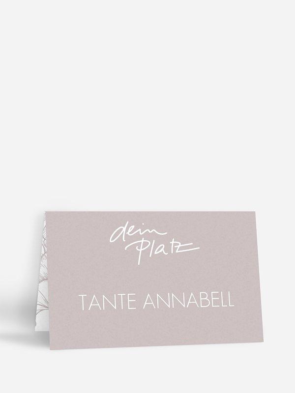 Tischkarte Hochzeit Letter Poppy