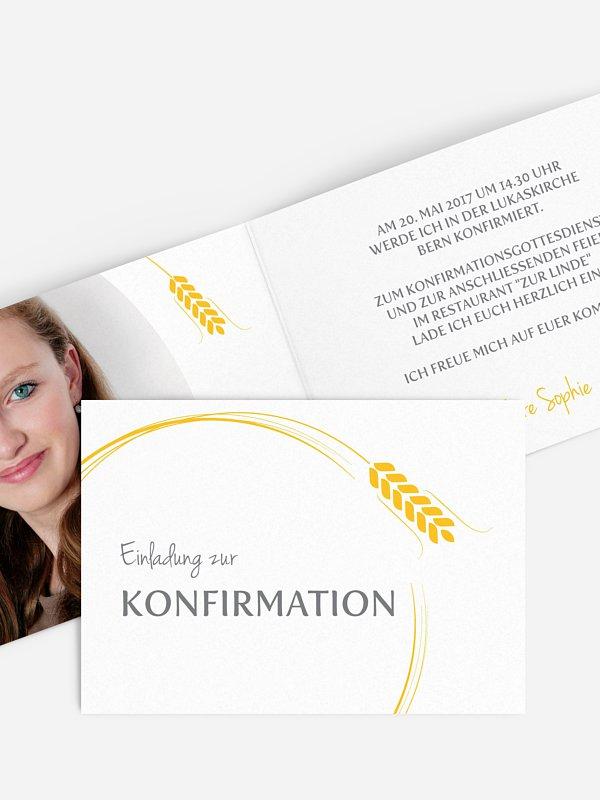 Konfirmationseinladung Ährenkranz