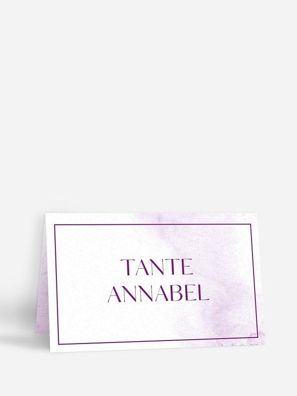 Tischkarte Konfirmation Klassik Aquarell