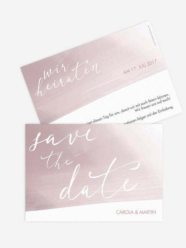 Save-the-Date Karte Watercolor Draw