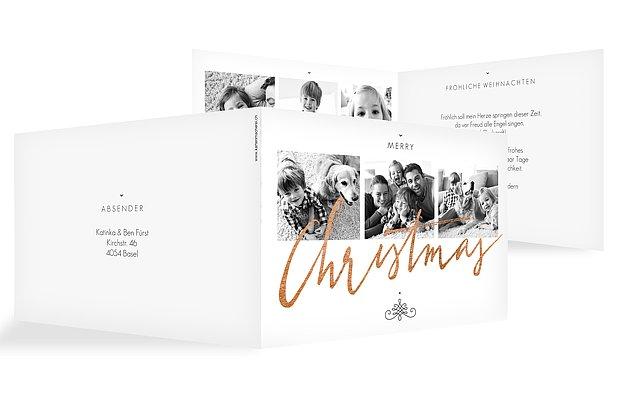 Weihnachtskarte Christmas Calligraphy