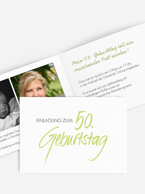 Einladung 50. Geburtstag Handgeschrieben
