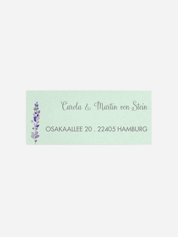 Absenderaufkleber Hochzeit Herbal Bouquet