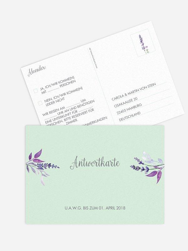 Antwortkarte Hochzeit Herbal Bouquet