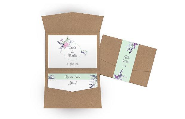 Hochzeitseinladung Herbal Bouquet