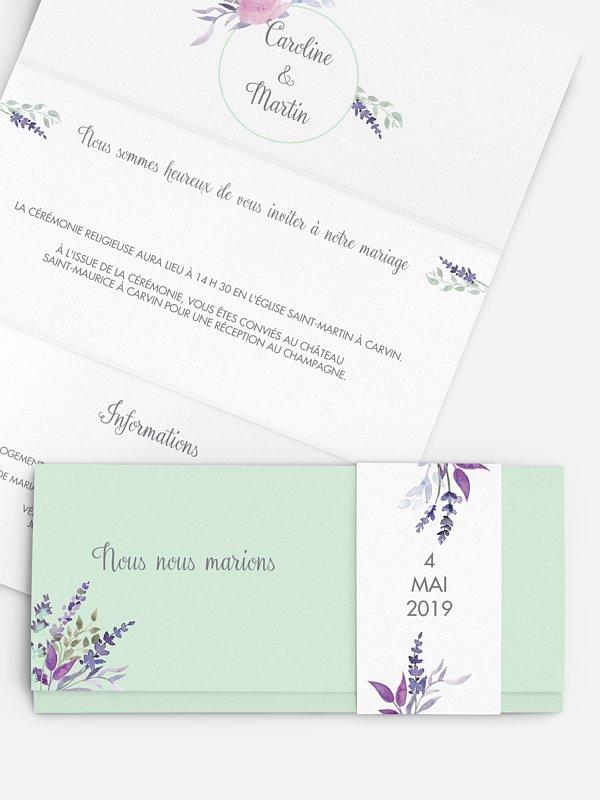 Faire-part mariage Bouquet de fleurs