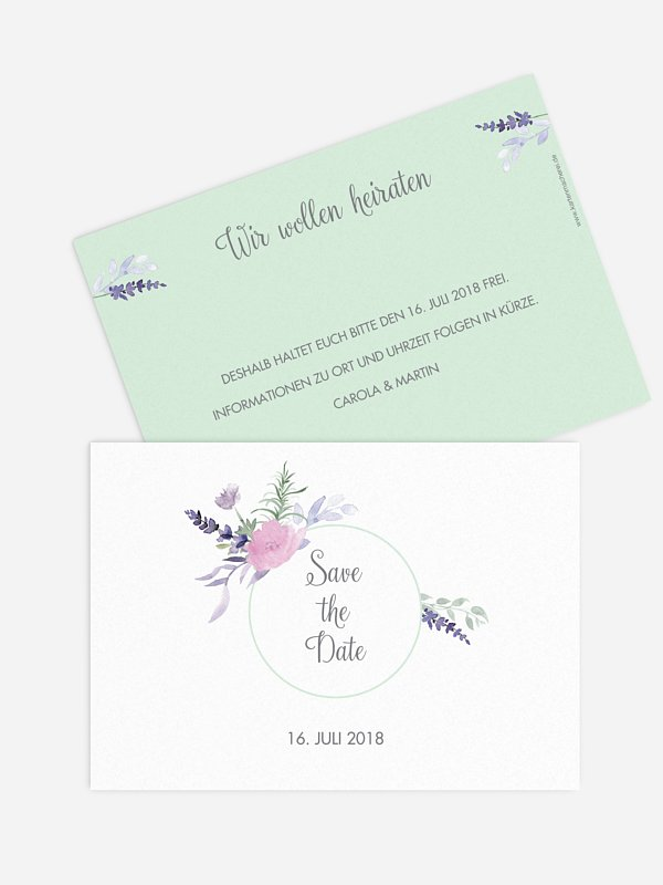 Save-the-Date Karte Herbal Bouquet