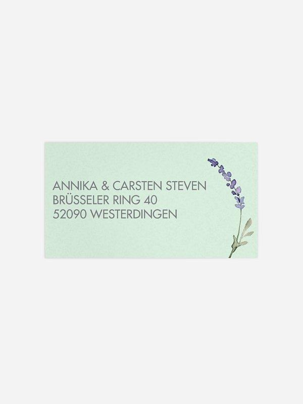 Empfängeraufkleber Hochzeit Herbal Bouquet