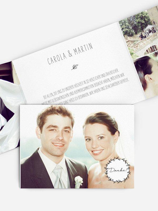 Dankeskarte Hochzeit Letter Pur