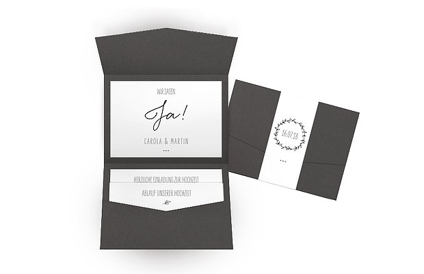 Hochzeitseinladung Letter Pur
