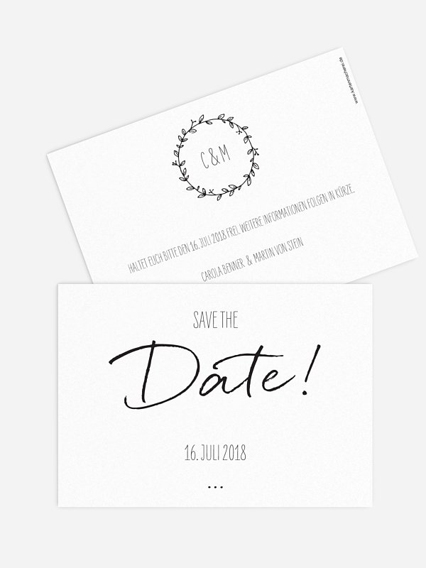 Save-the-Date Karte Letter Pur