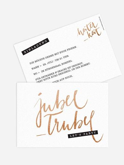 """Partyeinladung """"Jubel Trubel"""""""