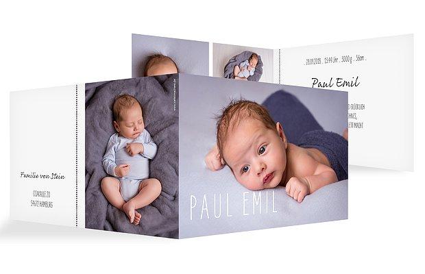 Geburtskarte Hallo Welt