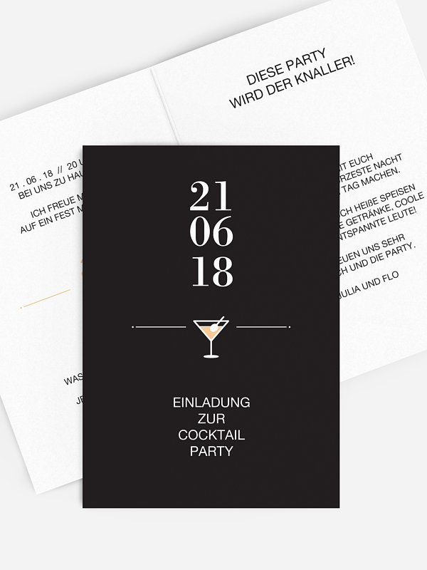 Partyeinladung Cocktail Time
