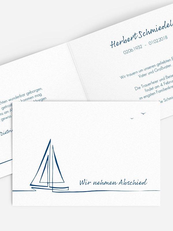 Trauerkarte Sail Away