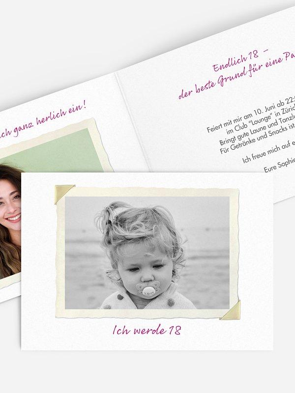 Einladung 18. Geburtstag Fotoalbum