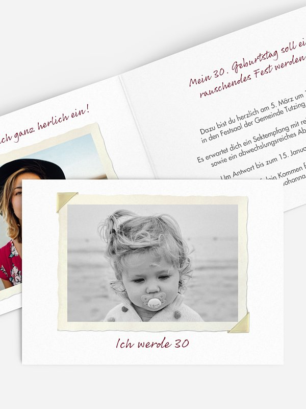 Einladung 30. Geburtstag Fotoalbum