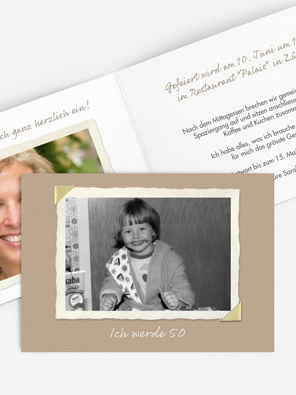 Einladung 50. Geburtstag Fotoalbum