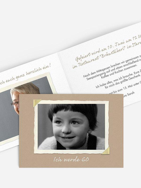 Einladung 60. Geburtstag Fotoalbum