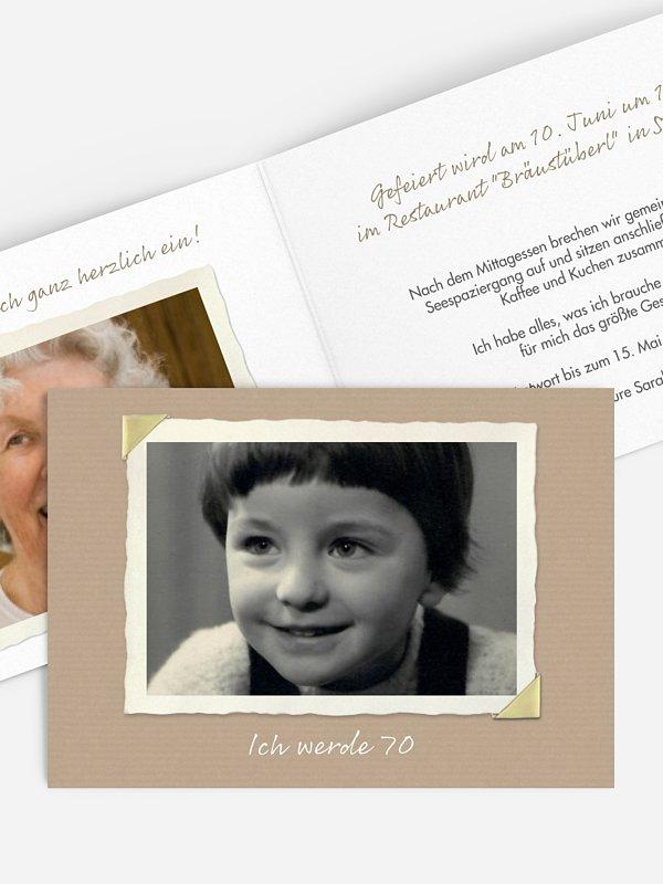 Einladung 70. Geburtstag Fotoalbum