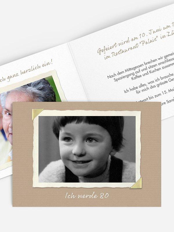 Einladung 80. Geburtstag Fotoalbum