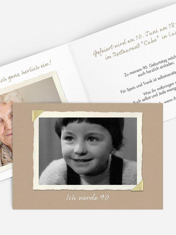 Einladung 90. Geburtstag Fotoalbum