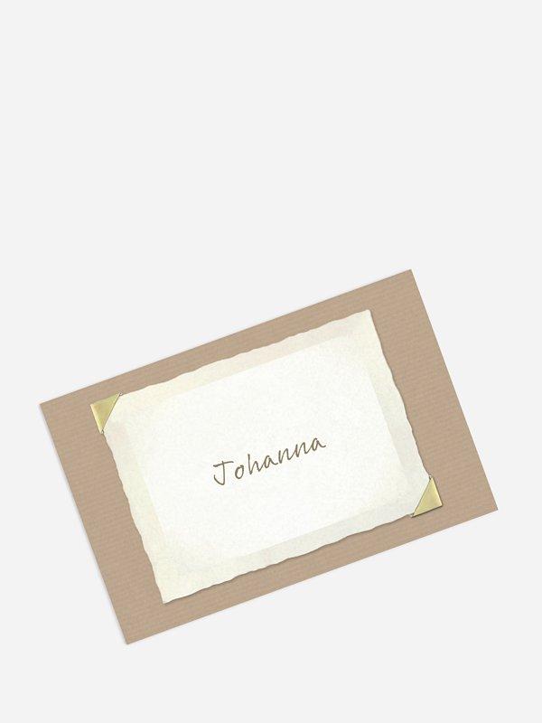 Tischkarte Geburtstag Fotoalbum