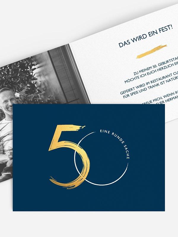 Einladung 50. Geburtstag Jetzt geht's rund