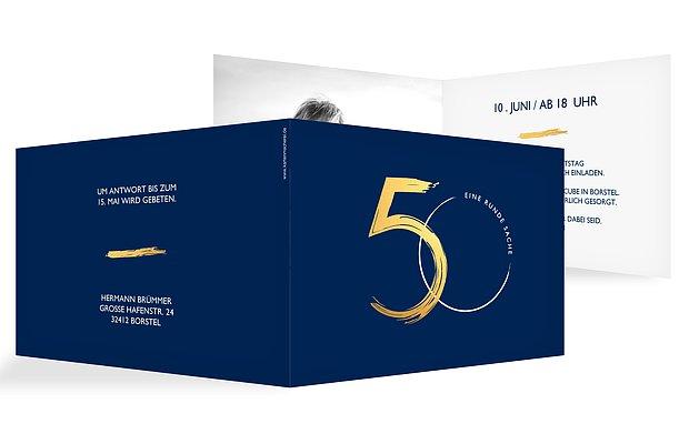"""Einladungskarten Richtig Selbst Gestalten So Geht S: Einladungskarten 50. Geburtstag """"Jetzt Geht's Rund"""""""
