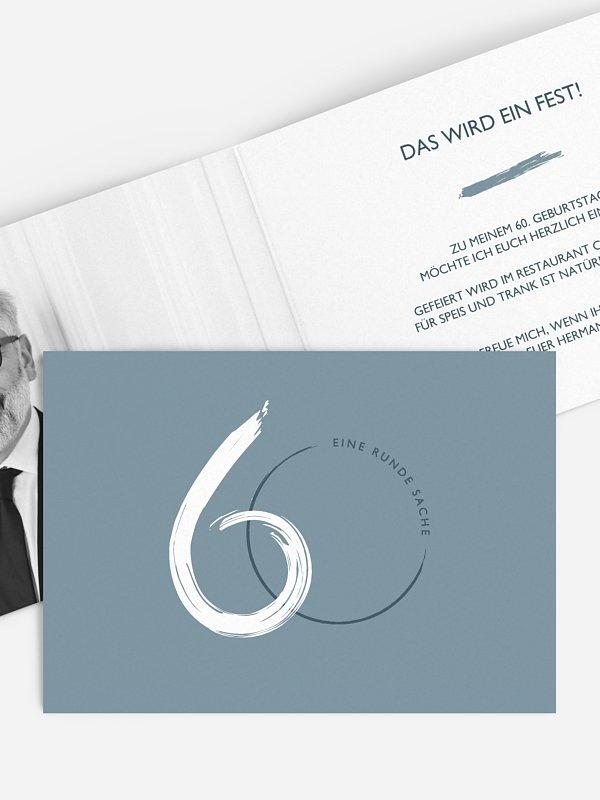 Einladung 60. Geburtstag Jetzt geht's rund