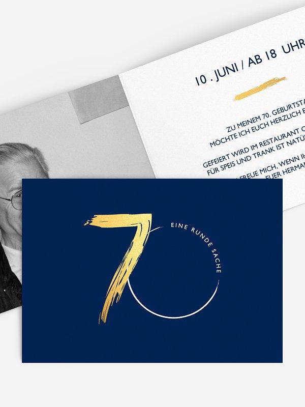 Einladung 70. Geburtstag Jetzt geht's rund