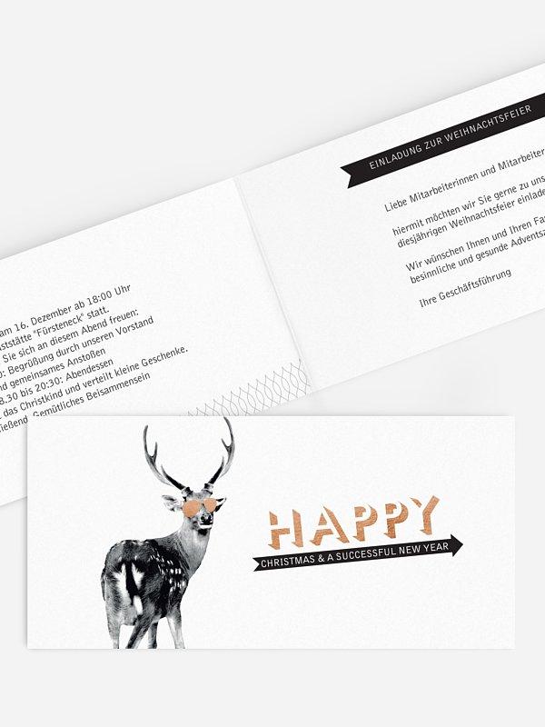 Weihnachtsfeier Hipster Deer