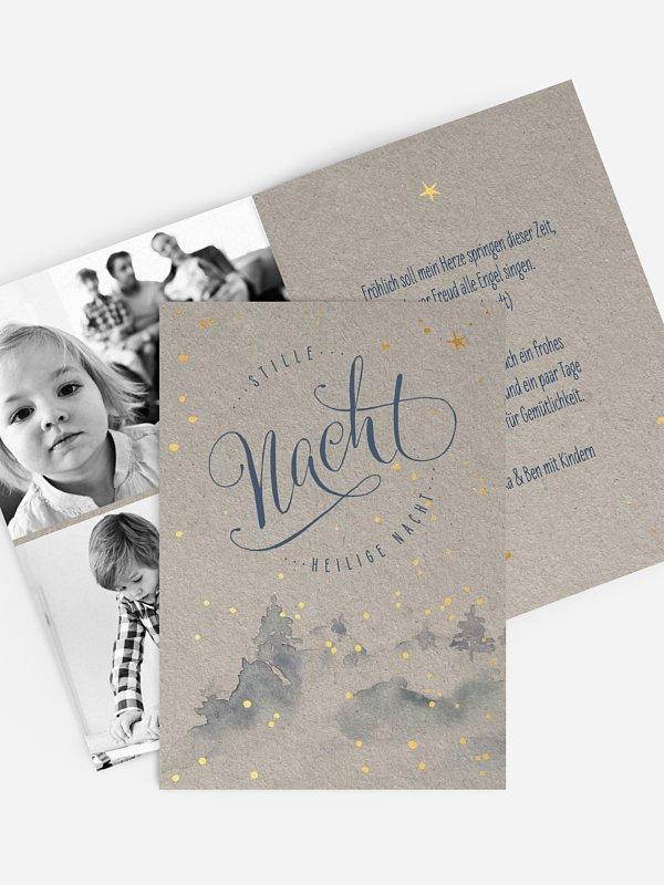 Weihnachtskarte Holy Night