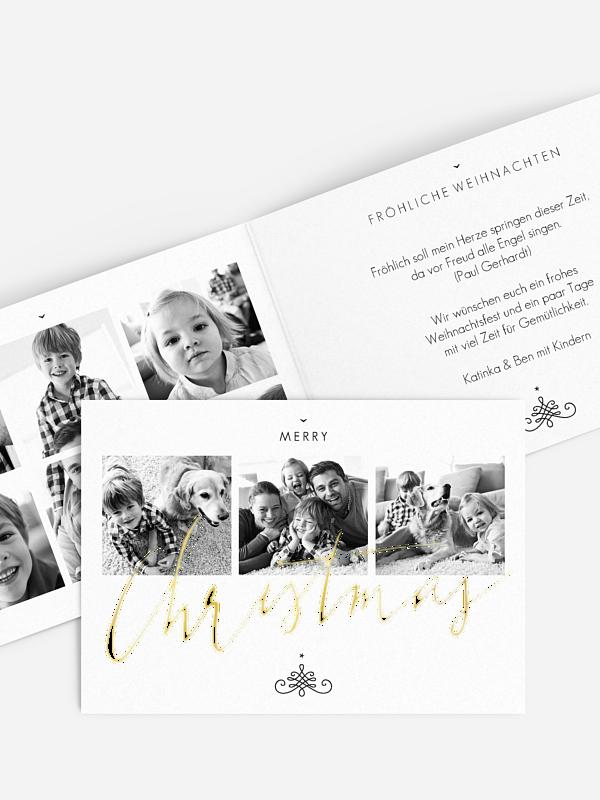 Weihnachtskarte Christmas Calligraphy Premium