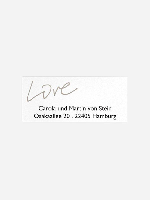 Absenderaufkleber Hochzeit Just Love Premium