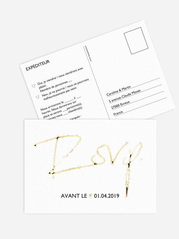 Carton réponse Just Love Premium