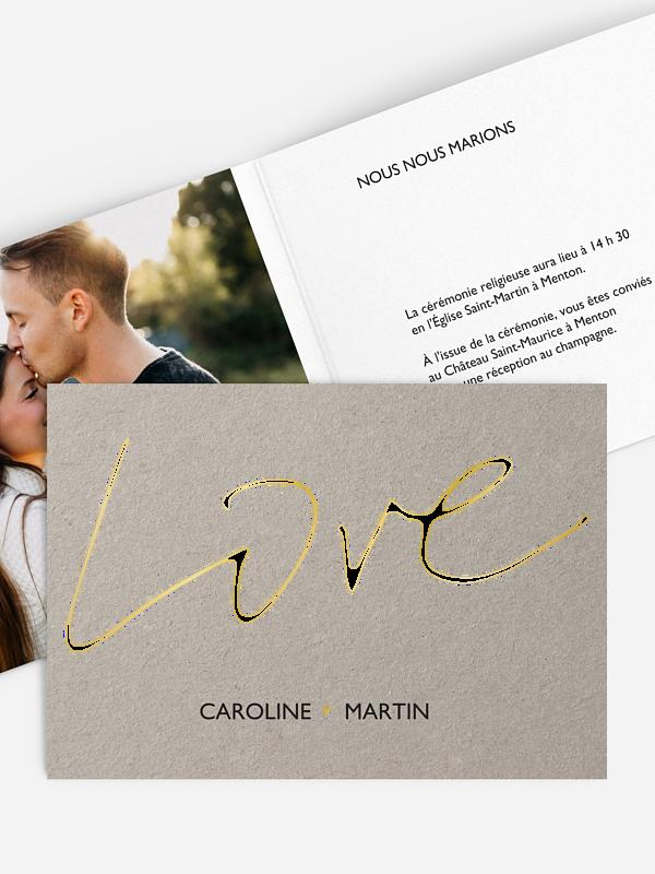 Faire-part mariage Just Love Premium