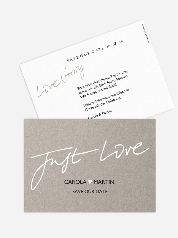 Save-the-Date Karte Just Love Premium