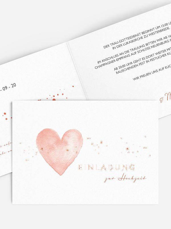 Hochzeitseinladung Herzensmoment Premium