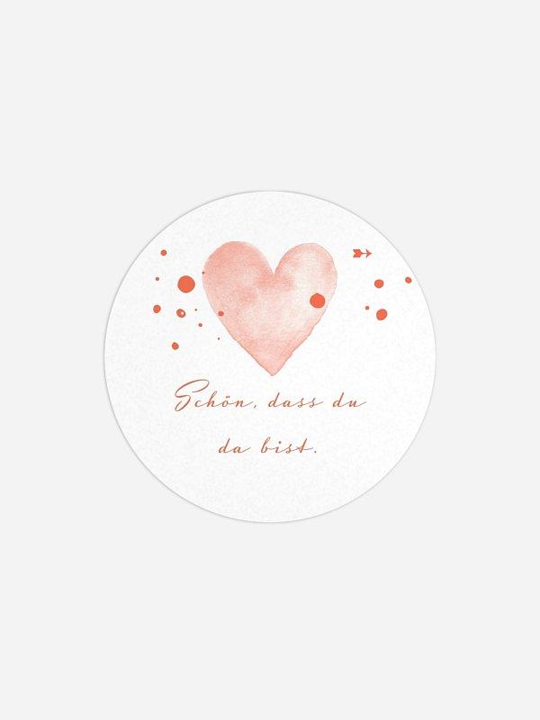 Geschenkaufkleber Hochzeit Herzensmoment Premium