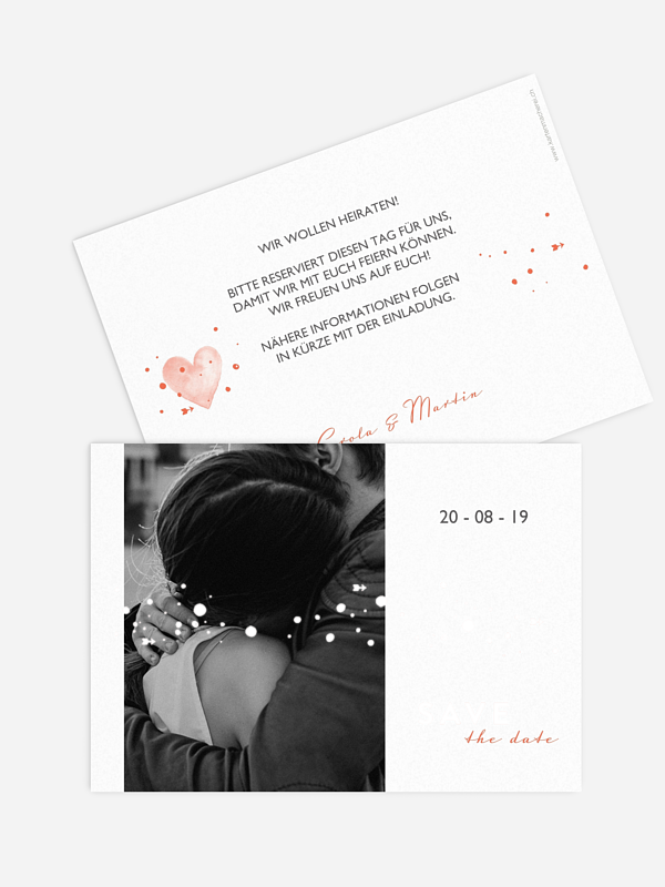 Save-the-Date Karte Herzensmoment Premium