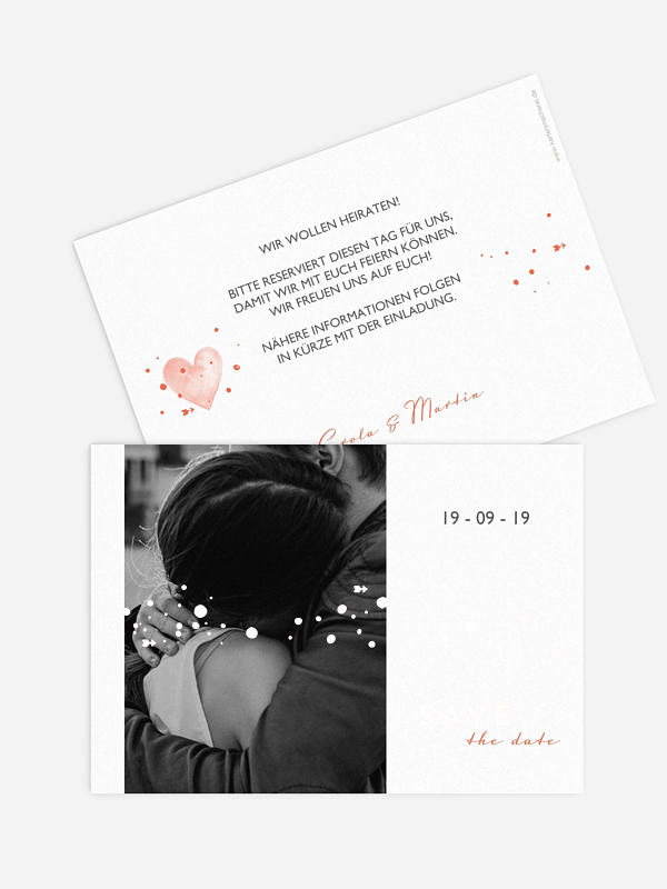 Save-the-Date Karte Herzensmoment Premium