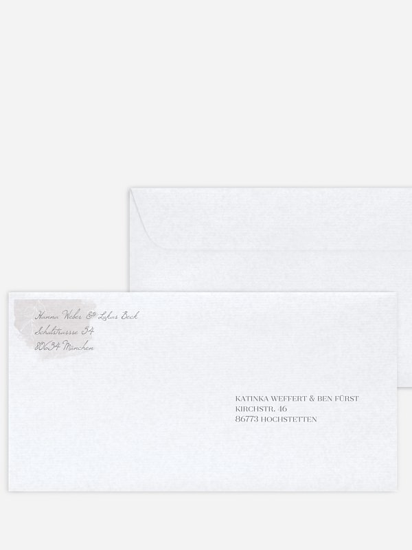 Bedruckter Briefumschlag Hochzeit Grace