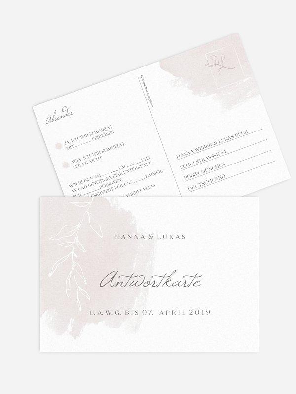 Antwortkarte Hochzeit Grace