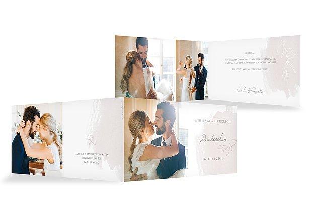 Dankeskarte Hochzeit Grace