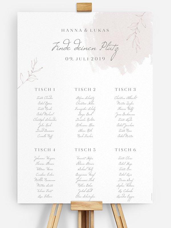 Sitzplan Plakat Grace